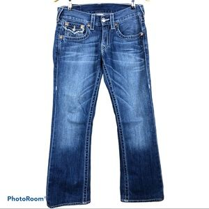 TRUE RELIGION bootcut jeans 28w x 27.5L short